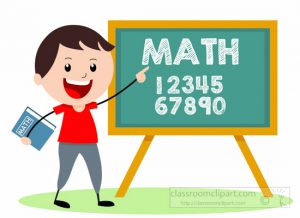 Boy teaching math clipart